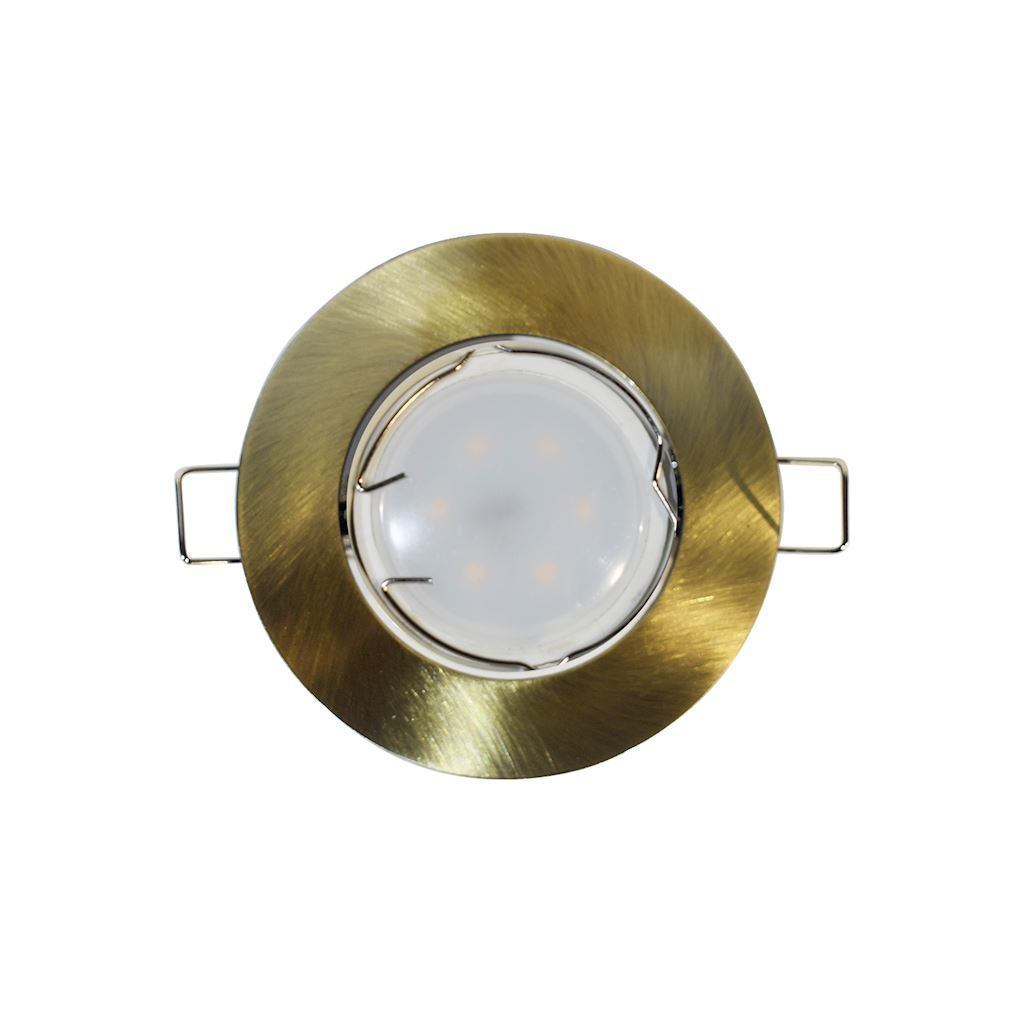 Brass Ceiling Eye Cast Motion Kit + 1.5W Gu10 Bulb Socket