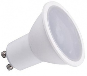 White Set Eyelet Ceiling Cast Basic White + 1.5 W bulb Gu10 Socket small 2