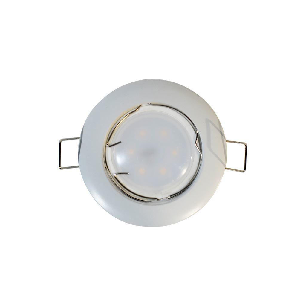 White Set Eyelet Ceiling Cast Basic White + 1.5 W bulb Gu10 Socket