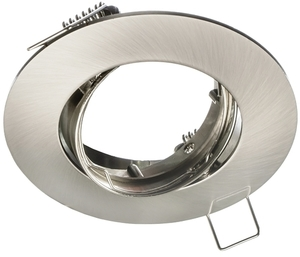 Chrome Ceiling Eye Set Cast Basic + 1.5 W Gu10 Bulb Socket small 0