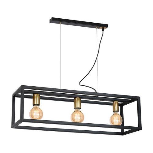 Black Hanging Lamp Cage 3x E27
