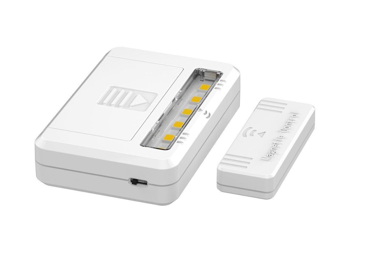 White Under-cupboard Lamp 0.5 W 4000 K 2x Aaa