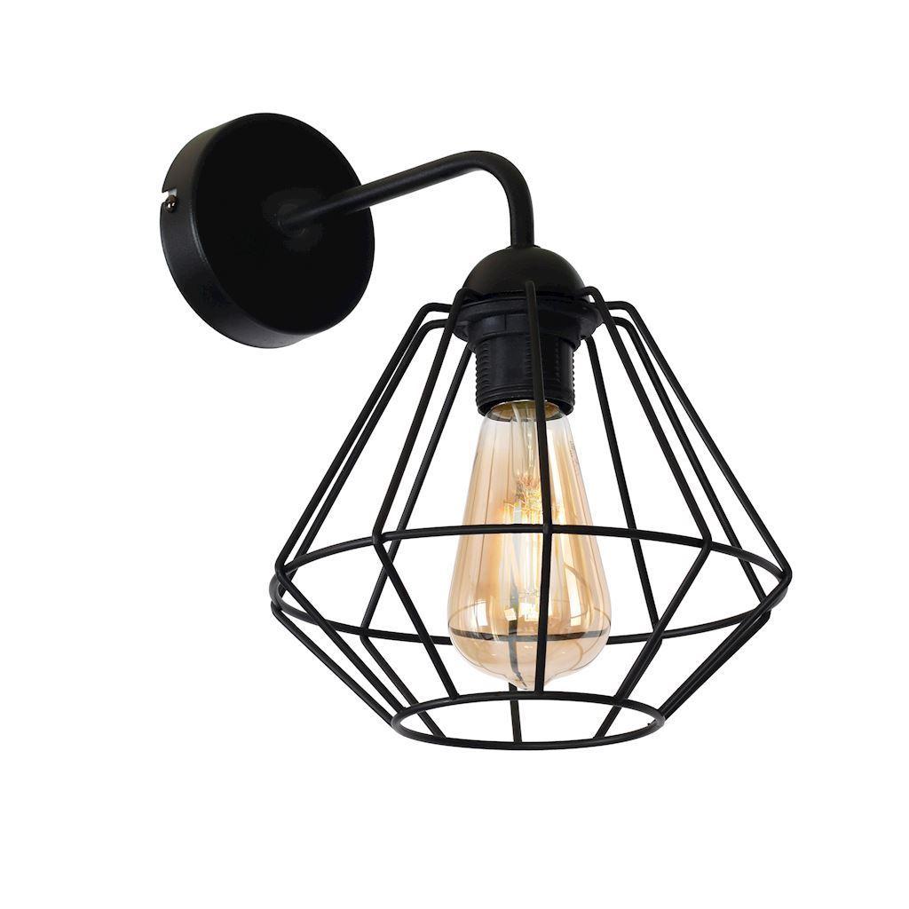 Black Wall lamp Colin Black 1x E27