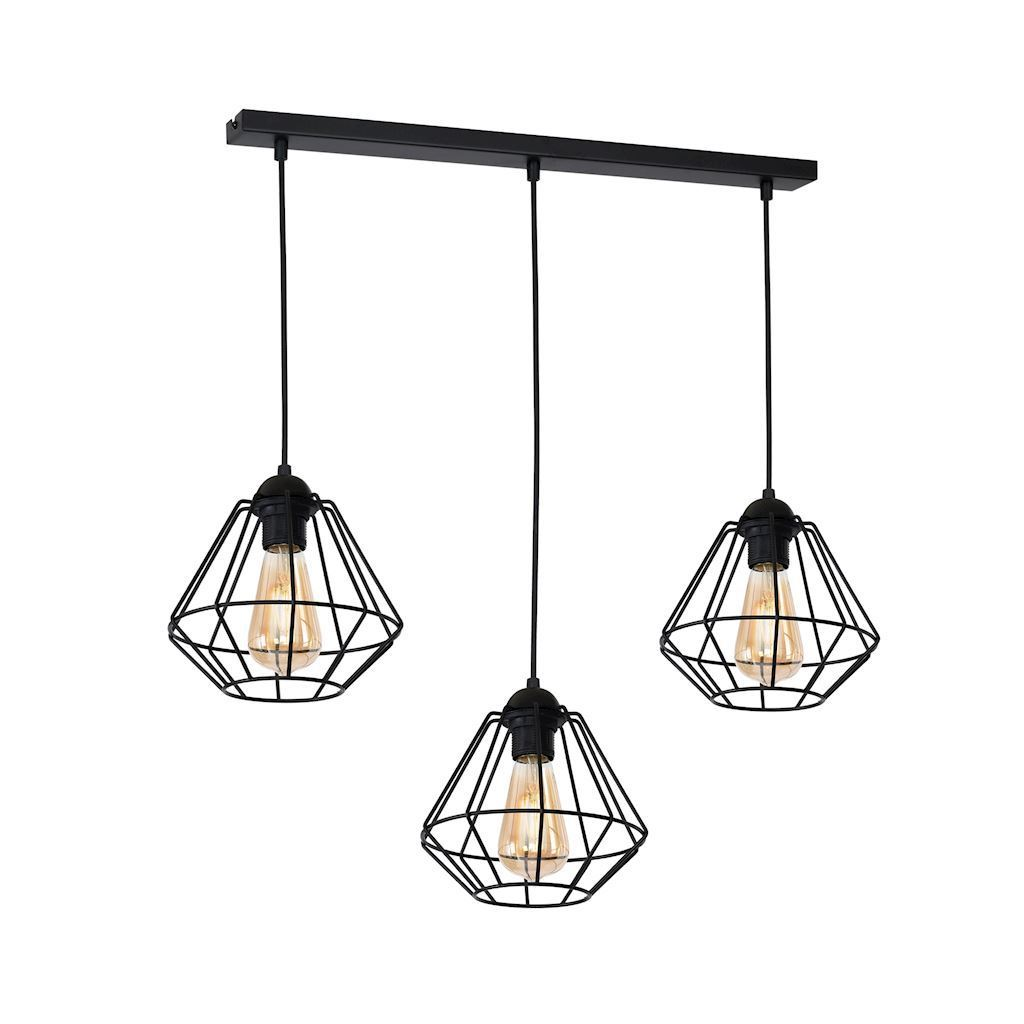 Black Hanging Lamp Colin Black 3x E27