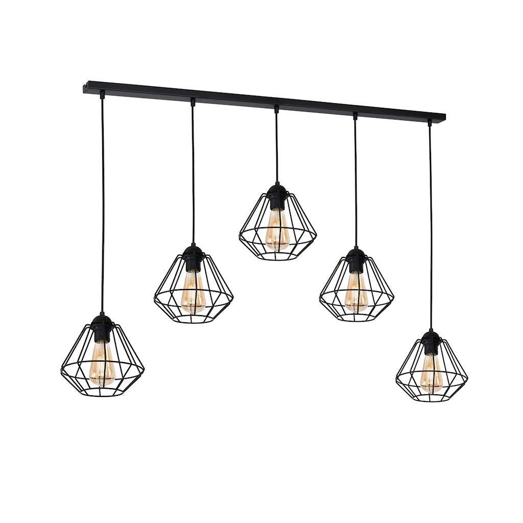 Black Hanging Lamp Colin Black 5x E27