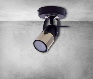 Black Wall Lamp Wilson Black 1x Gu10 small 5