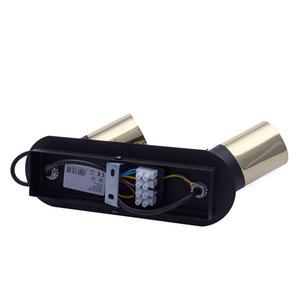 Black Wilson Black 2x Gu10 Ceiling Lamp small 4