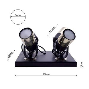 Black Wilson Black 4x Gu10 Ceiling Lamp small 7