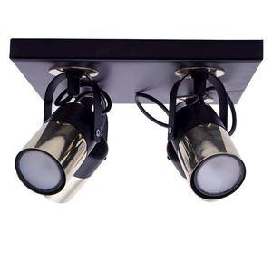 Black Wilson Black 4x Gu10 Ceiling Lamp small 0