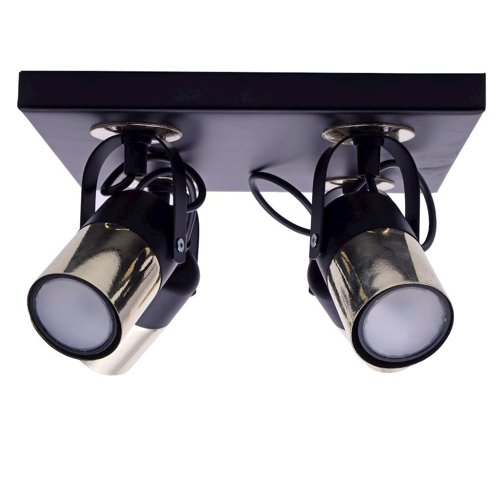 Black Wilson Black 4x Gu10 Ceiling Lamp