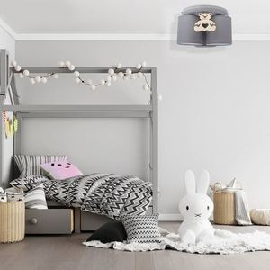 Gray Ceiling Lamp Bear 3x E27 small 4