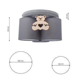 Gray Ceiling Lamp Bear 3x E27 small 6