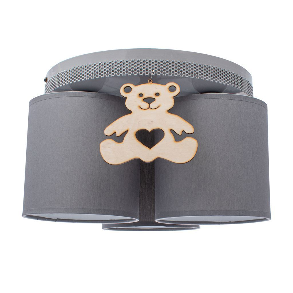 Gray Ceiling Lamp Bear 3x E27