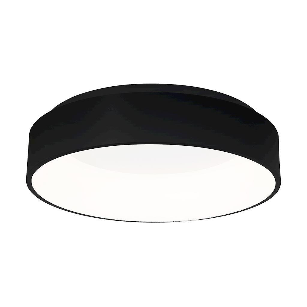 Ohio Black 24 W LED ceiling lamp