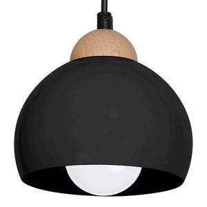 Black Hanging Lamp Dama Black 1x E27 small 4