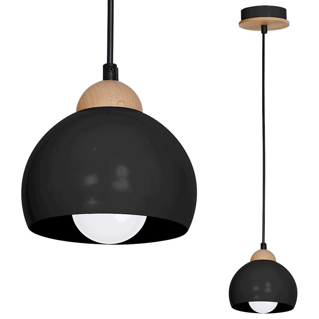 Black Hanging Lamp Dama Black 1x E27