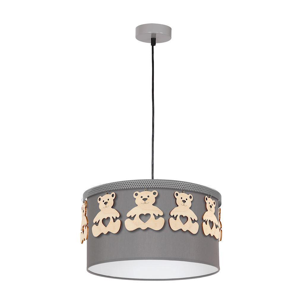 Gray Bear Hanging Lamp 1x E27