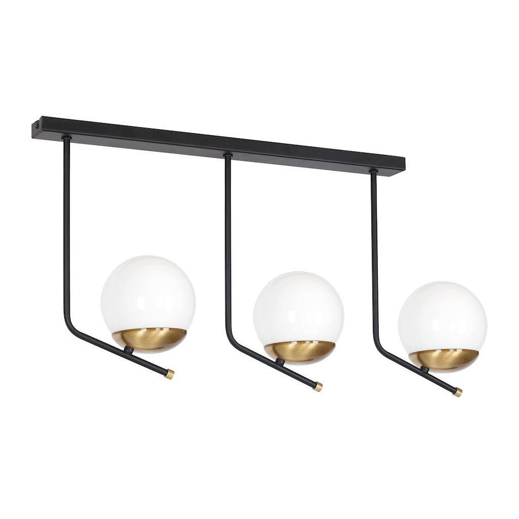 Black Ceiling Lamp Carina 3x E14