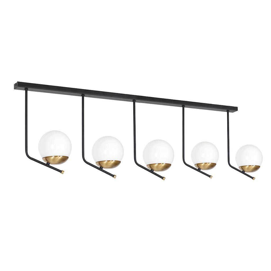 Black Ceiling Lamp Carina 5x E14