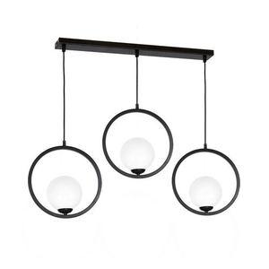 Black Boston Hanging Lamp 3x E14 small 0
