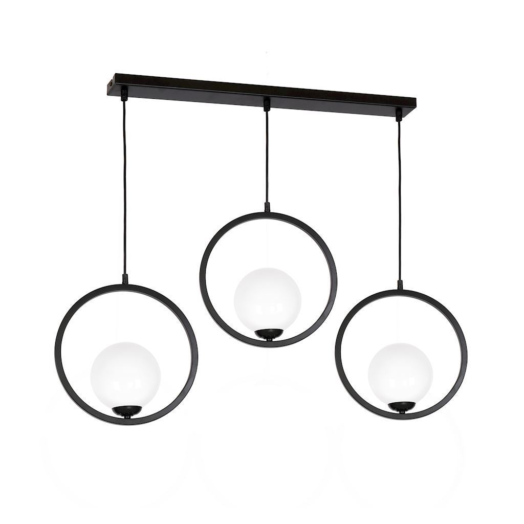 Black Boston Hanging Lamp 3x E14