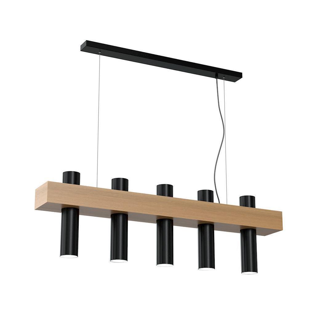 Black West Black Hanging Lamp 5x Gu10