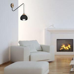 Black Wall lamp Dama Black 1x E27 small 6