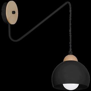 Black Wall lamp Dama Black 1x E27 small 8