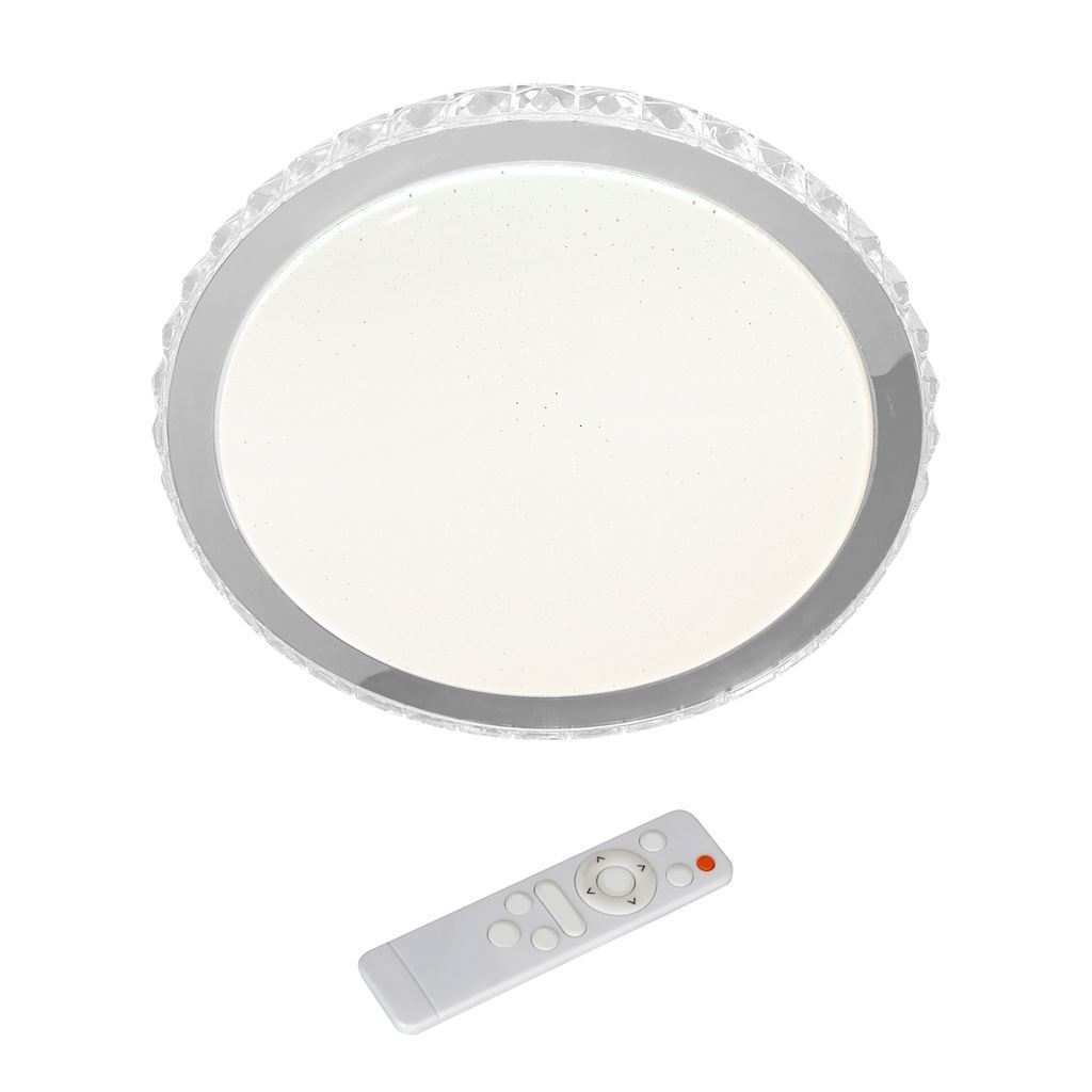 White Layla 26 W LED dimmable ceiling lamp + remote control