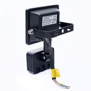 Black LED floodlight 10 W. Color: 4500 K. Pir IP65 small 2