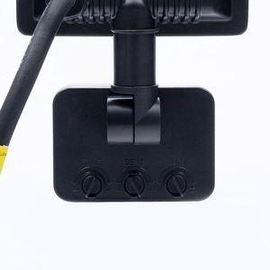 Black LED floodlight 10 W. Color: 4500 K. Pir IP65 small 7