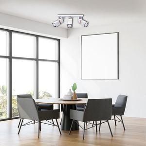 White Ceiling Lamp Vidar White 3x Gu10 small 4