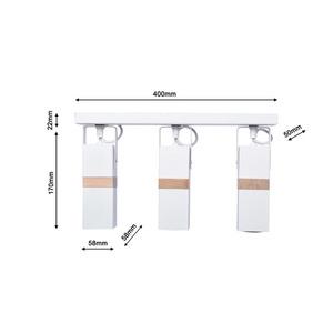 White Ceiling Lamp Vidar White 3x Gu10 small 7