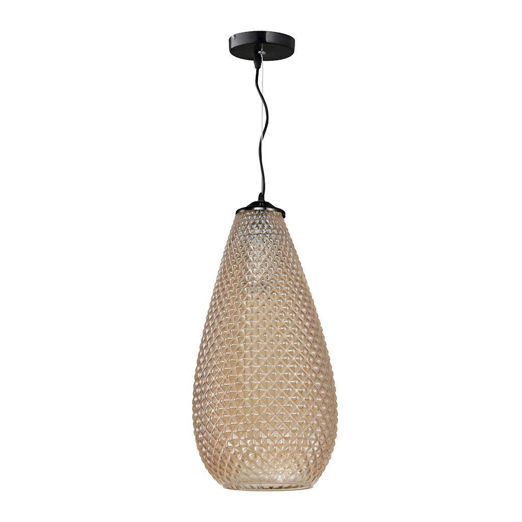 Amber Hanging Lamp Petra 1x E27