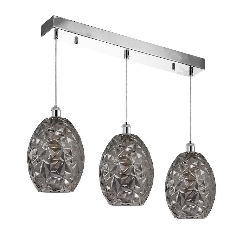 Chrome Pendant Lamp Belize 3x E27