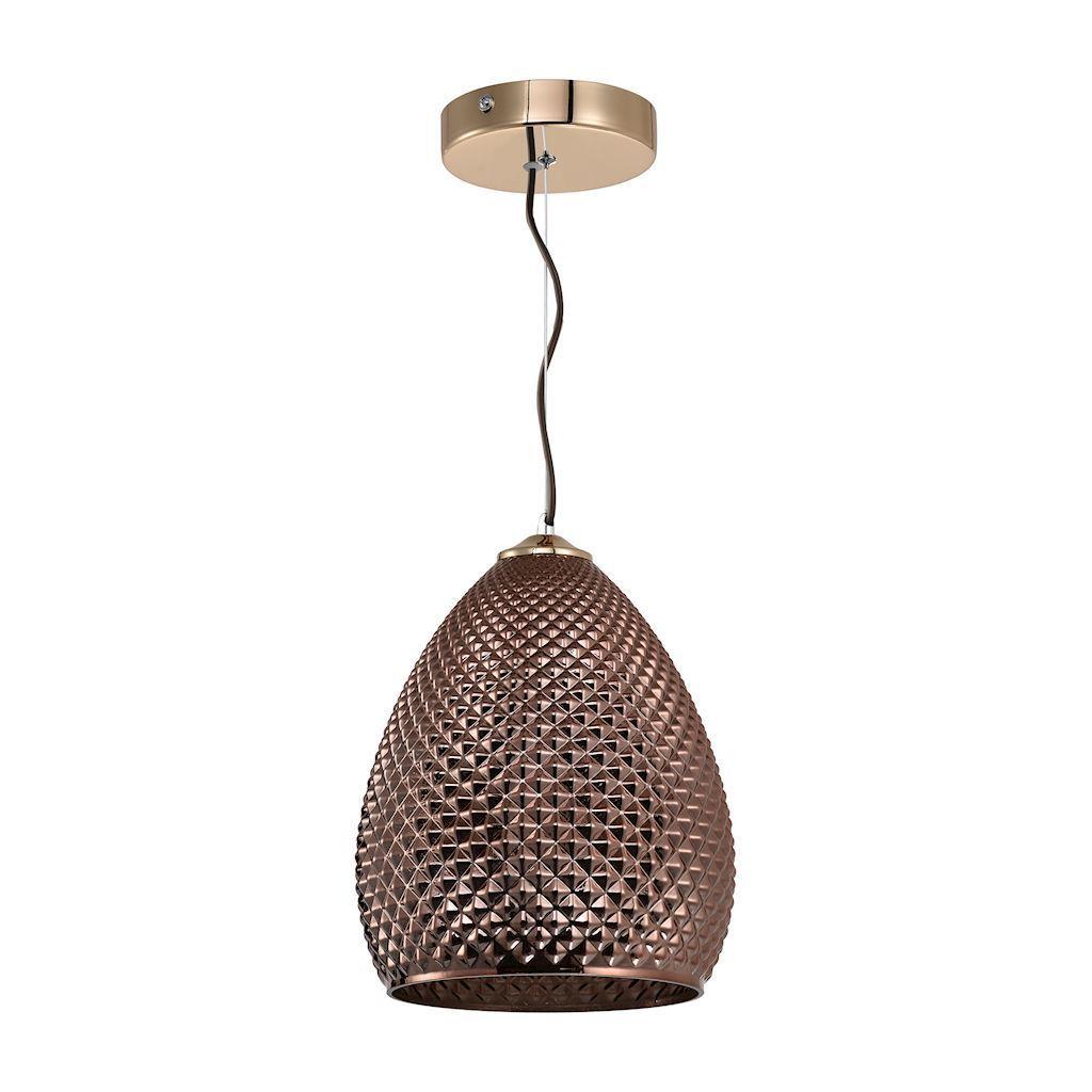 Copper Hanging Lamp Fiji 1x E27