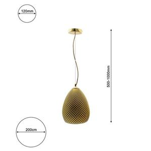 Fiji Gold Hanging Lamp 1x E27 small 7