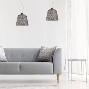 Black 1x E27 Hanging Lamp Rio small 1