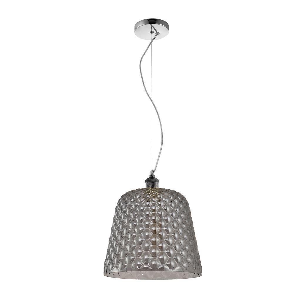 Black 1x E27 Hanging Lamp Rio