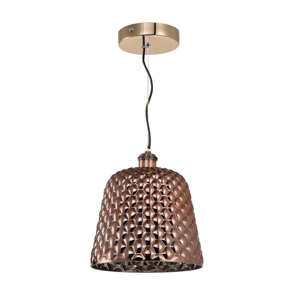 Copper Hanging Lamp Rio 1x E27