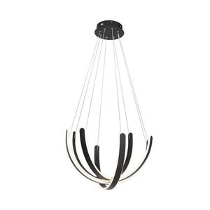 Black Hanging Lamp Fiore 80 W Led small 0