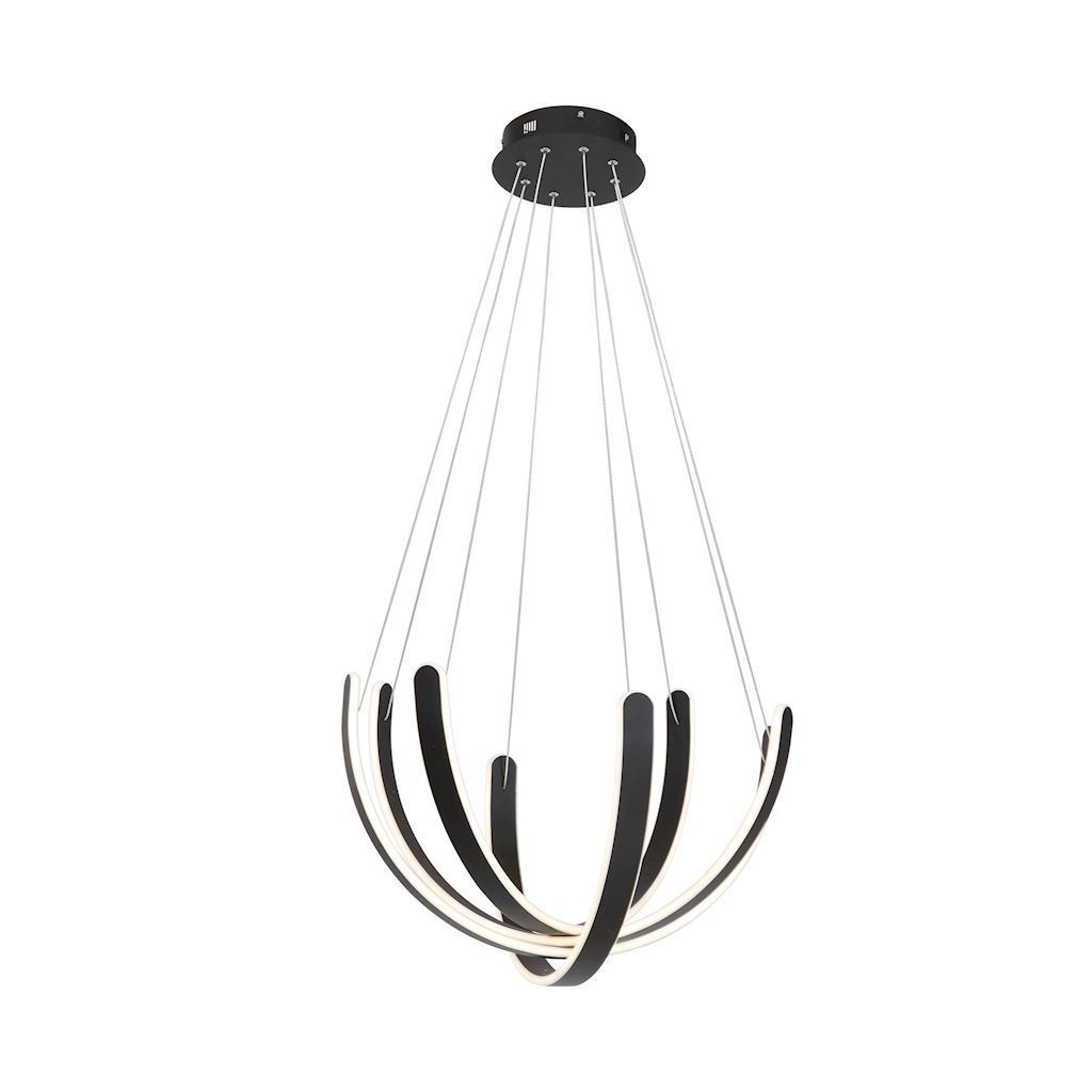 Black Hanging Lamp Fiore 80 W Led
