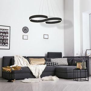Black Hanging Lamp Infinity Black 60 W Led small 1