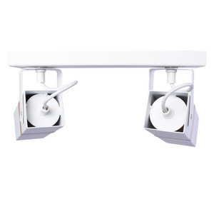 Vidar White 2x Gu10 White Ceiling Lamp small 2