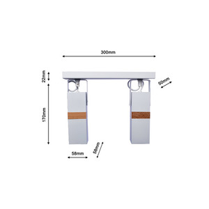 Vidar White 2x Gu10 White Ceiling Lamp small 7