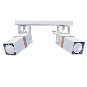 Vidar White 2x Gu10 White Ceiling Lamp small 0