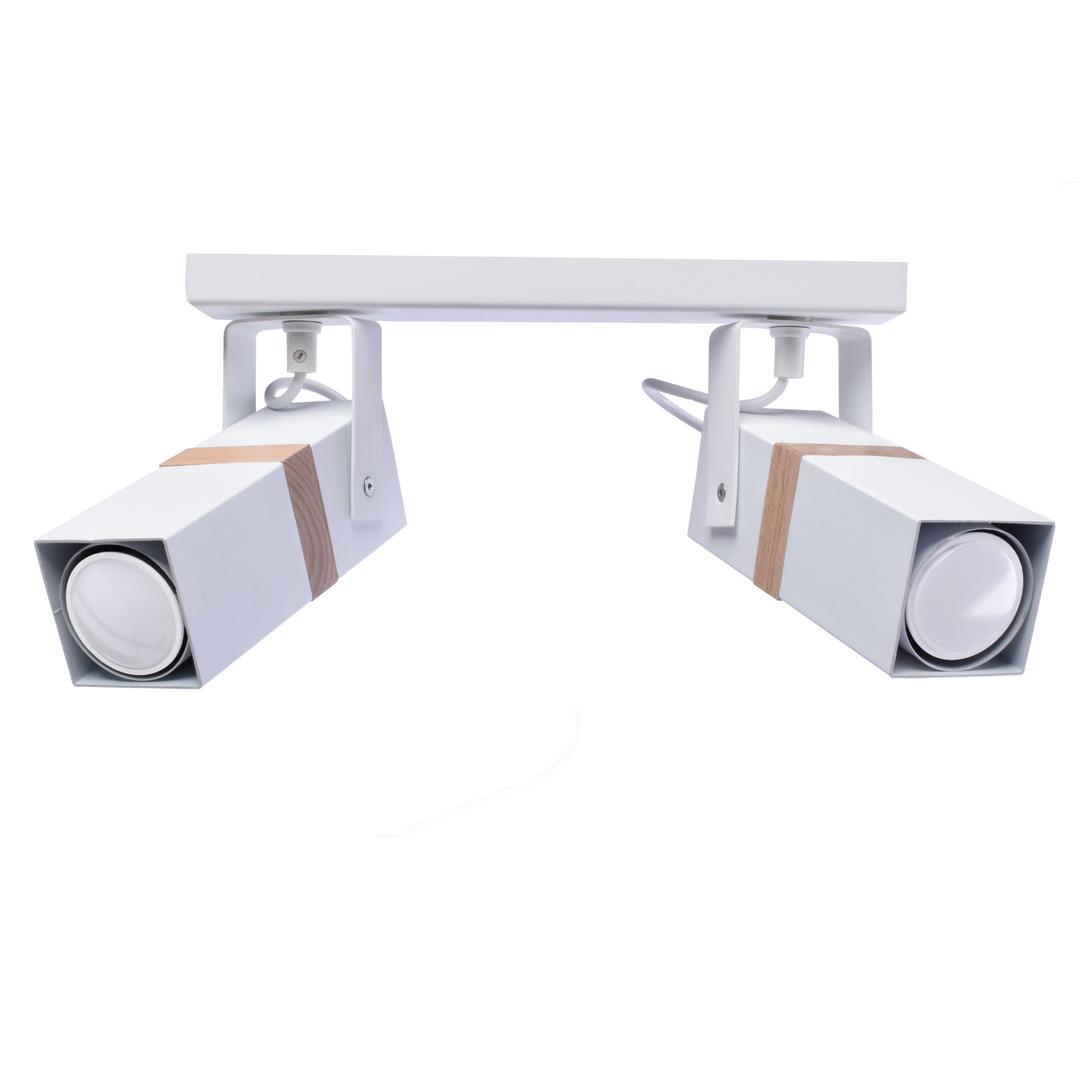 Vidar White 2x Gu10 White Ceiling Lamp