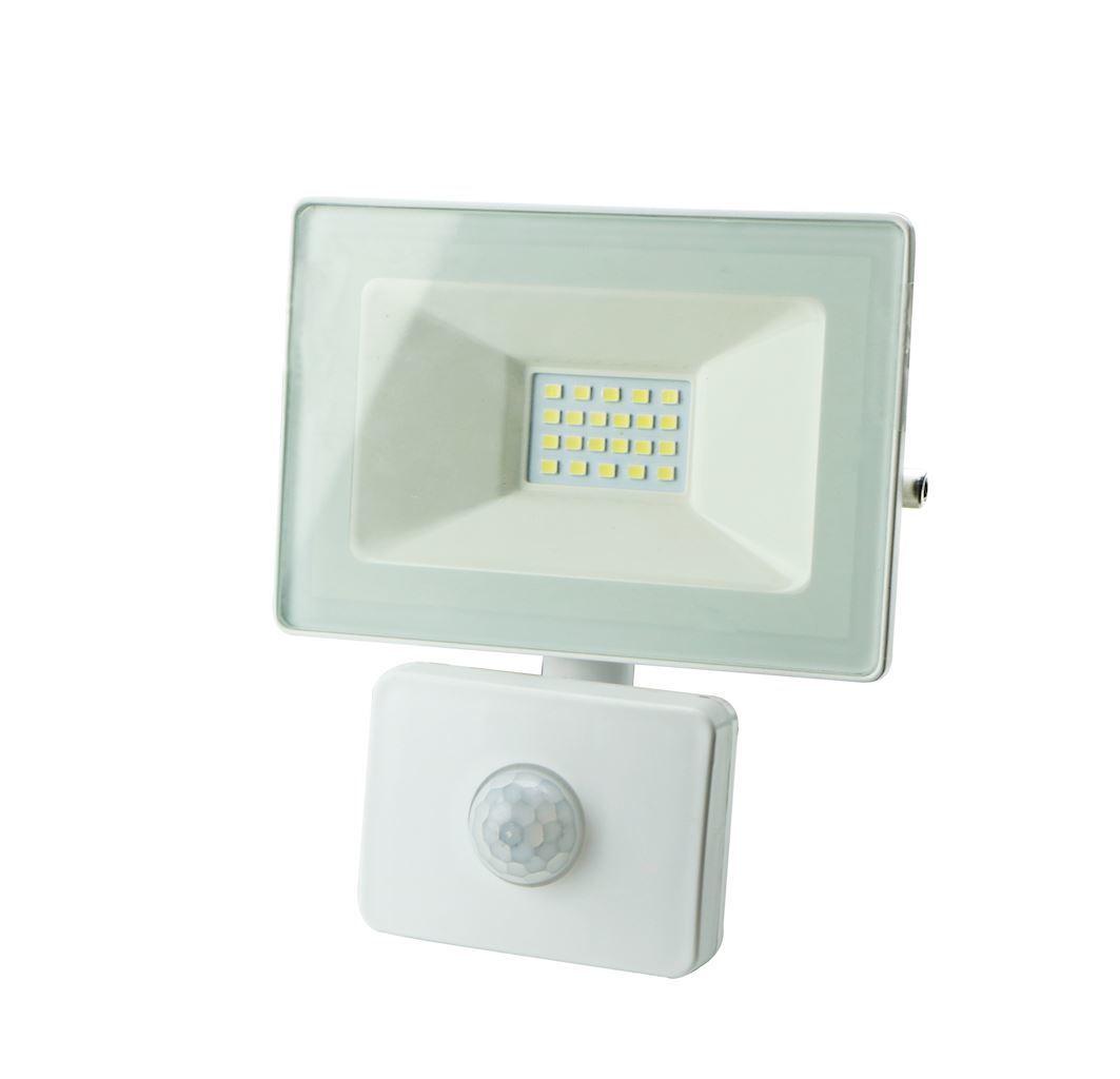 White LED Floodlight 20 W Pir IP65