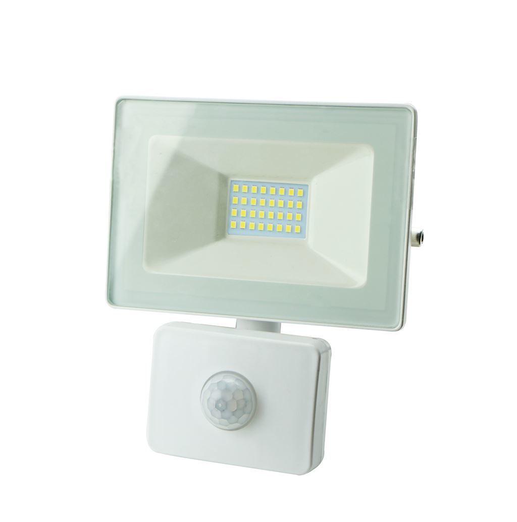 White LED Floodlight 30 W Pir IP65