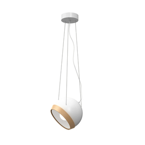 White Oval White 1x E27 Hanging Lamp small 0